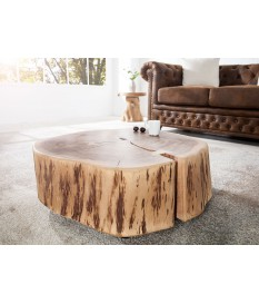 Table de nuit, table d'appoint, table basse / Bois massif Acacia