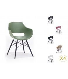 Lot de 4 chaises rétro pas cher