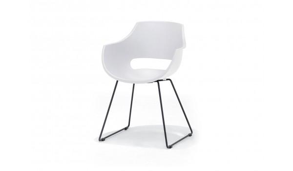 Lot de 4 chaises rétro pas cher pieds luge