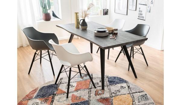 Table en bois chêne grisé 180 cm