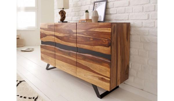 Buffet bois massif et métal 150 cm / Sesham