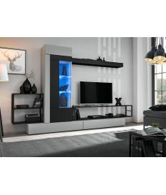 Composition tv design gris et noir