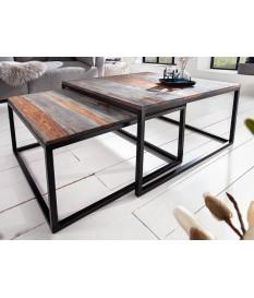 Table basse emboîtable en bois massif de Sesham