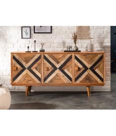 Buffet 3 portes déco originale en bois de manguier