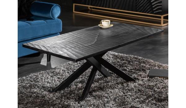 Table basse rectangulaire bois et acier