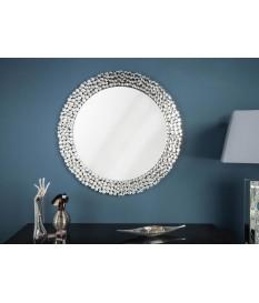 Grand miroir mural Diamonds 80 cm rond