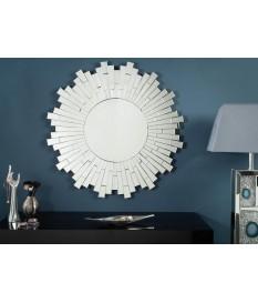 Grand miroir rond design multi-facettes Ø90