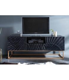 Meuble TV contemporain bois et métal
