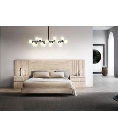 Lit double 160x200 avec chevets & tête de lit