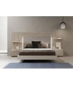 Lit adulte design avec chevets & tête de lit à Led