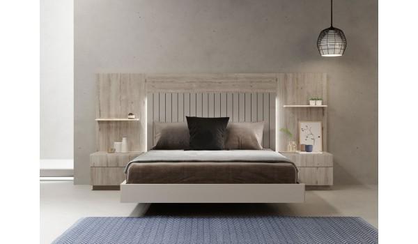 Lit Adulte Design Avec Chevets Tete De Lit A Led Pour Chambre Adulte