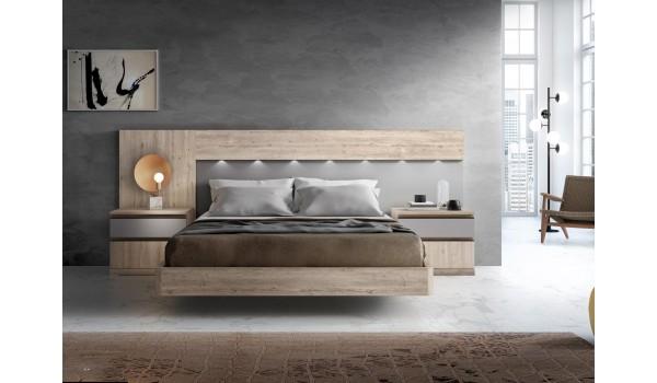 Lit surélevé chevet et tête de lit design