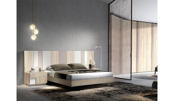 Lit adulte design - Tête de lit et chevets