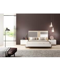Lit adulte design 160 x 200 cm avec éclairage Led