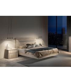 Lit moderne 160X200 avec chevets & tête de lit