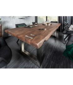 Table de salle à manger 2m40 piéds et déco en acier brossé