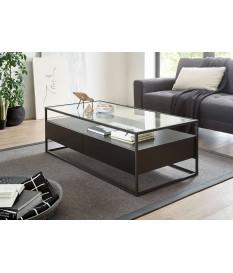 Table basse noir et verre