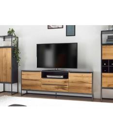 Meuble TV design bois et métal