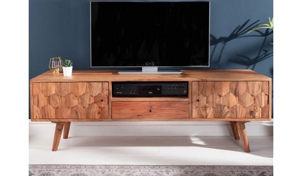 Meuble tv scandinave / Effet marqueterie 3D
