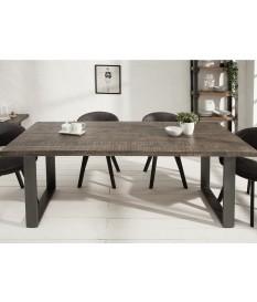 Table à manger rectangulaire en bois et pied métal design