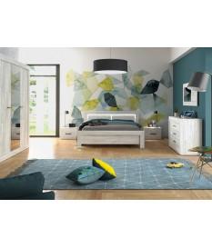 Chambre à Coucher Moderne en Bois & Éclairage Lumineux