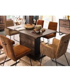 Table à manger rectangulaire bois et pied central