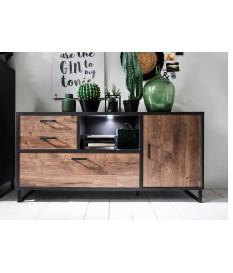 Buffet bas en bois et métal look industriel