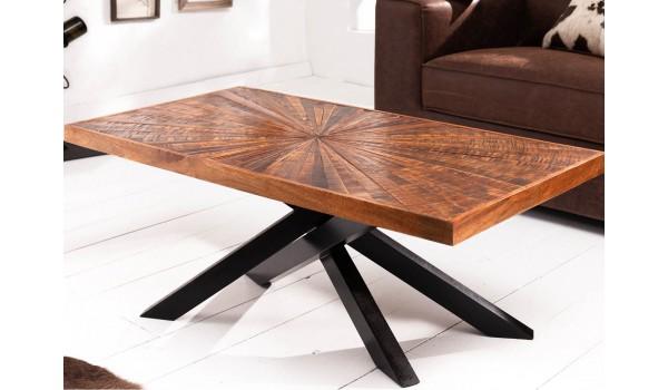Table basse en bois de manguier rectangulaire