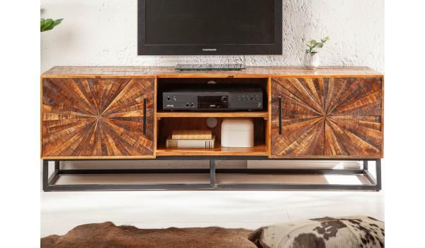 Meuble TV en bois de manguier et métal