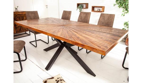 Table en bois de manguier 200cm - Pied central mikado