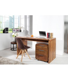 Bureau design en bois avec tiroirs