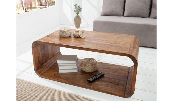 Table basse bois de Sesham design