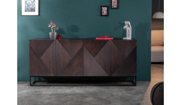 Buffet design bois et métal - 4 portes