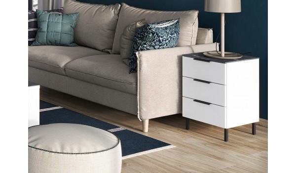 Bout de canapé - Table appoint à tiroirs