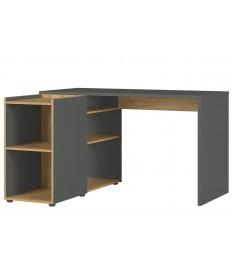 Bureau en angle avec panneau latéral et rangement intégré