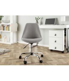 Chaise de bureau réglable en hauteur gris clair