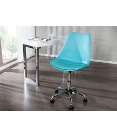 Chaise de bureau scandinave réglable en hauteur bleu clair