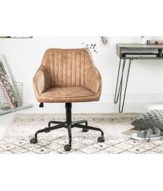 Chaise de bureau réglable, tournante, avec accoudoirs