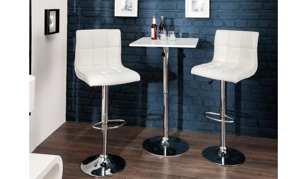 chaise de bar réglable avec repose pieds