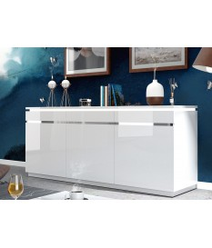 Buffet blanc 3 portes avec éclairage Led