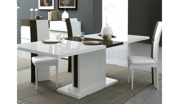 Table à manger rectangulaire avec allonge 225 cm