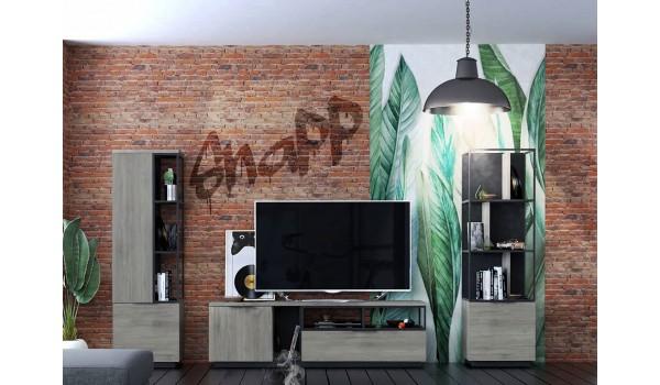 Ensemble meuble TV inspiration industriel