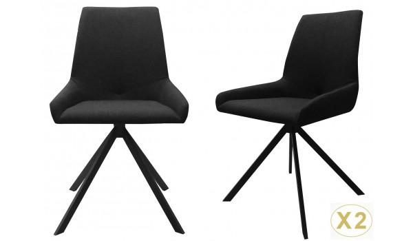 Chaise design en tissu noir