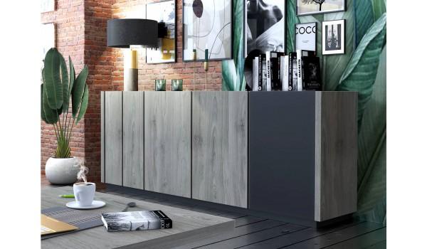 Buffet 4 portes style industriel 220 cm