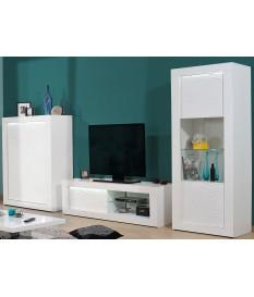 Ensemble de meuble tv design blanc laqué