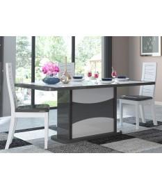 Table extensible blanche et noire laquée