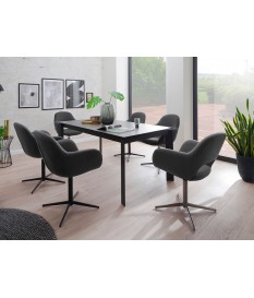 Table rectangulaire 180-240 cm céramique anthracite
