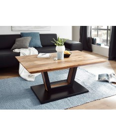 Table basse design bois acacia et métal