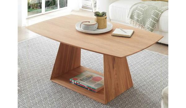 Table basse design bois naturel massif