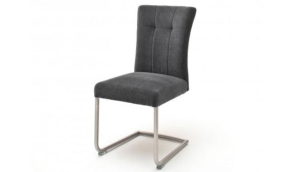 Chaise de salle à manger en tissu avec poignée